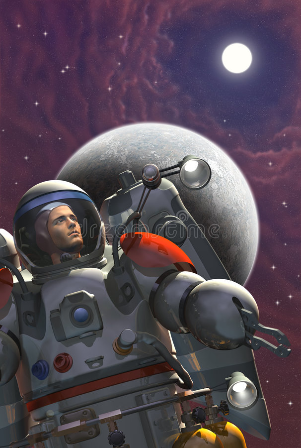 Download Spaceman stock illustration. Image of galaxy, astronaut - 1957121