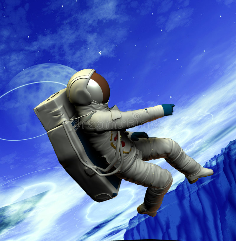 Download Spaceman 20 stock illustration. Image of astronomy, floating - 1365374