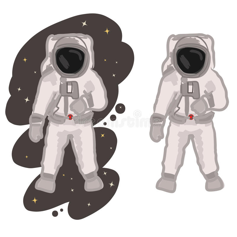 spaceman vektor illustrationer