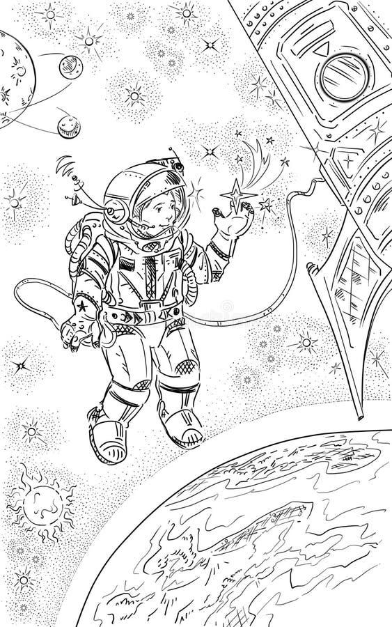 Spaceman royalty free illustration