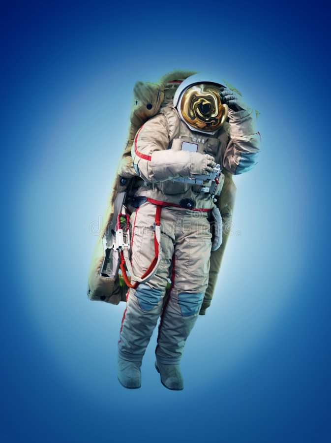 Spaceman In Outer Space Royalty Free Stock Image