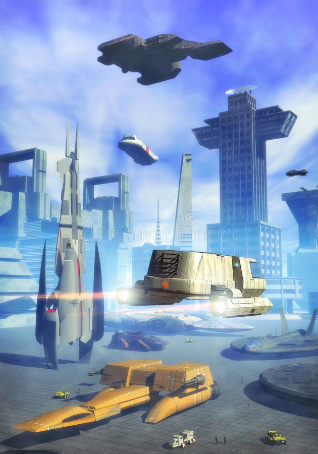 Download Spaceport daylight stock illustration. Illustration of isolated - 11128530