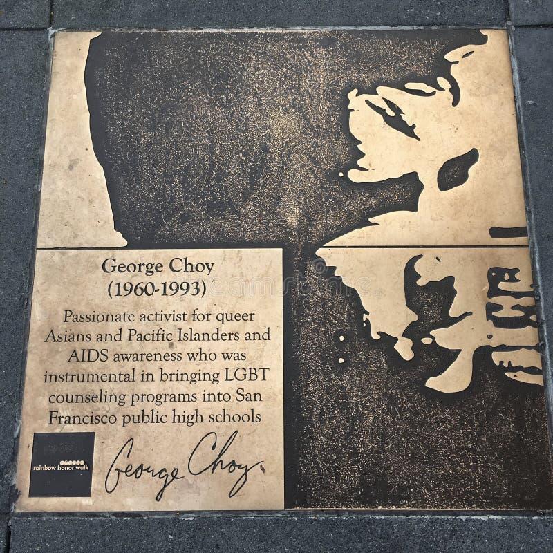 Spacer homoseksualista tęcza honoru spacer, George Choy obrazy stock