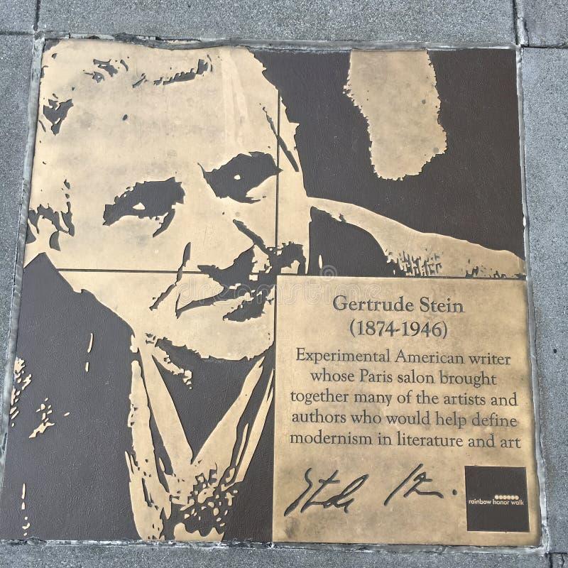 Spacer homoseksualista tęcza honoru spacer, Gertrude Stein fotografia stock