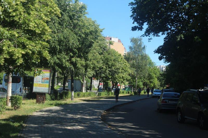 Spacer Korolev Isaeva ulicy aleja obrazy stock