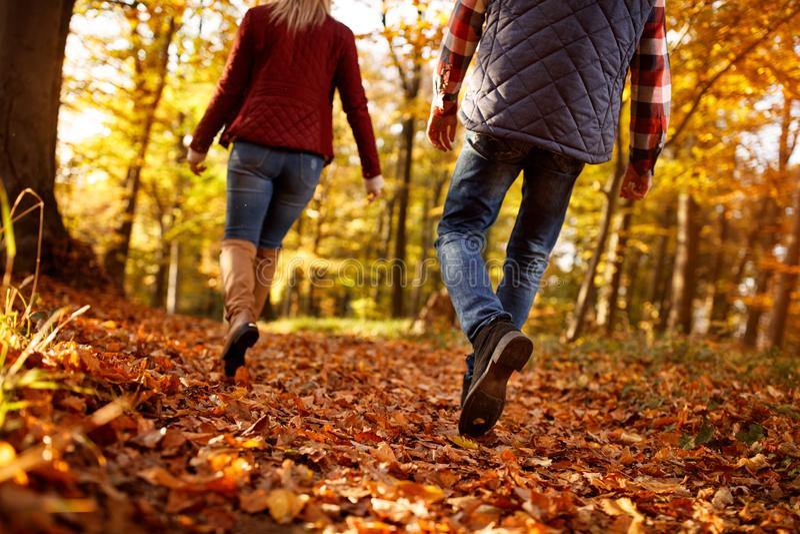 Spacer przez park miłości, podróż, związku pojęcie fotografia royalty free