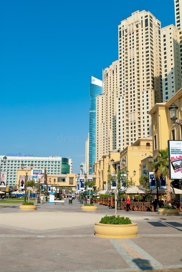Spacer w Dubaj zdjęcie stock