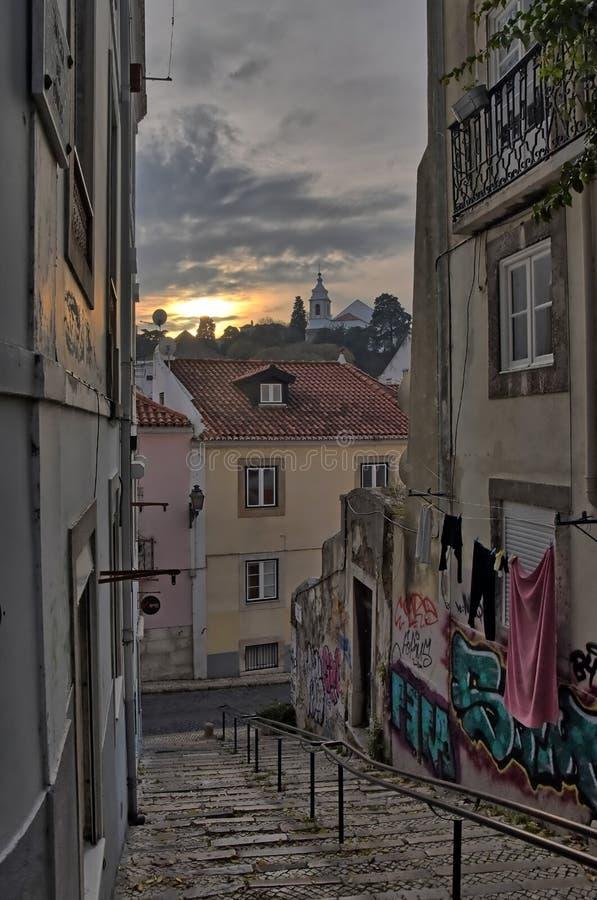 Spacer w Lisbon obraz stock