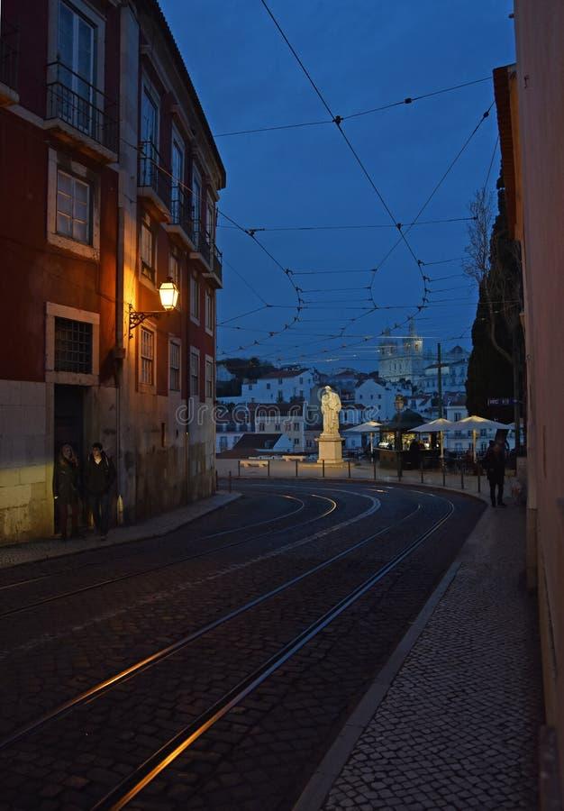 Spacer w Lisbon obraz royalty free