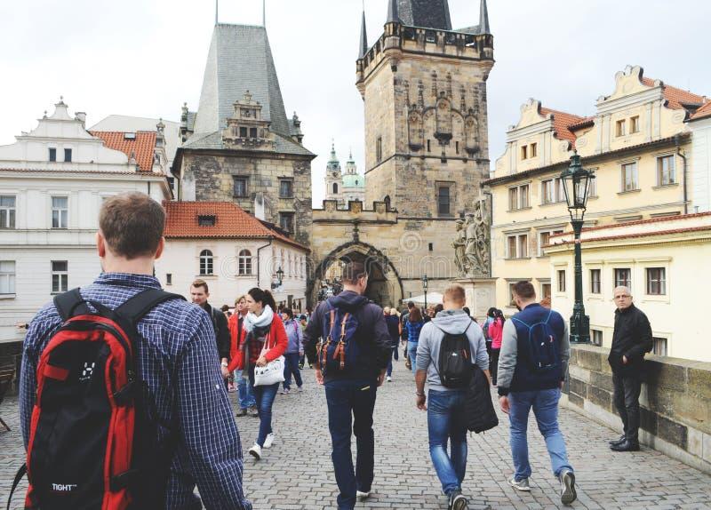 Spacer z widokiem, Praga, 2017 fotografia stock