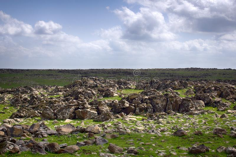 Spaces with poor rocky soil. Near the city of Sanliurfa Turkey royalty free stock photography