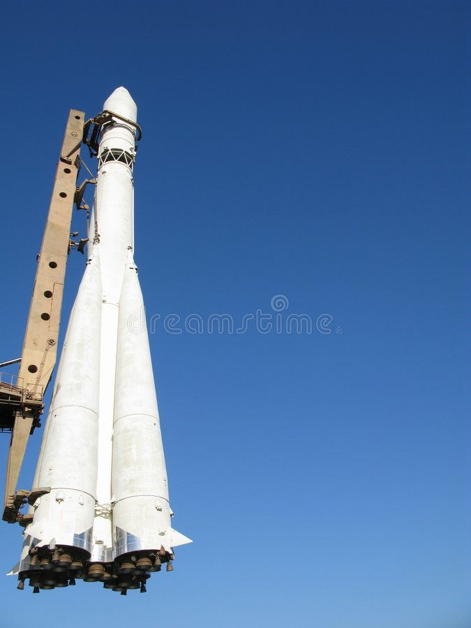 spaceship πυραύλων στοκ φωτογραφία με δικαίωμα ελεύθερης χρήσης