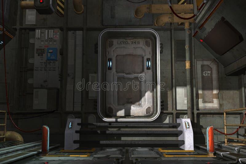 Spaceship πόρτα διανυσματική απεικόνιση
