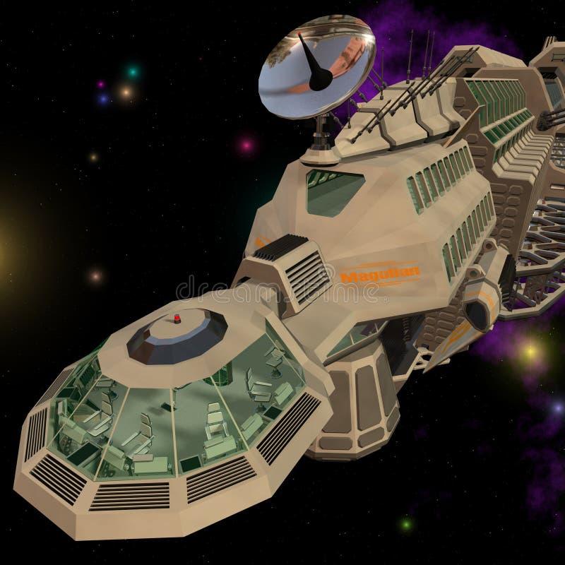 spaceship 05 stock illustrationer