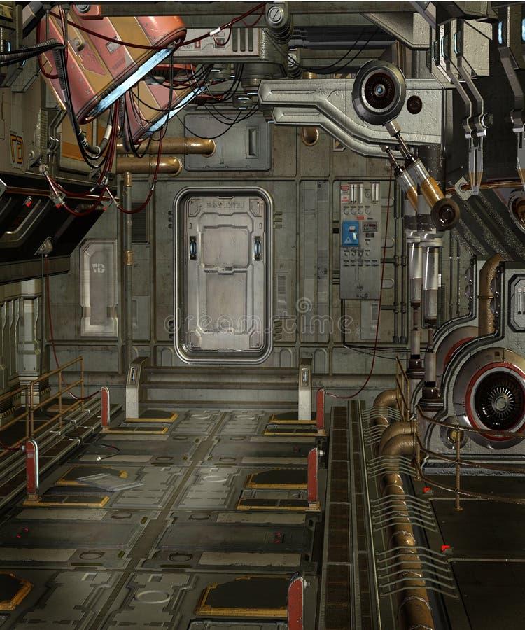spaceship 2 δωματίων απεικόνιση αποθεμάτων