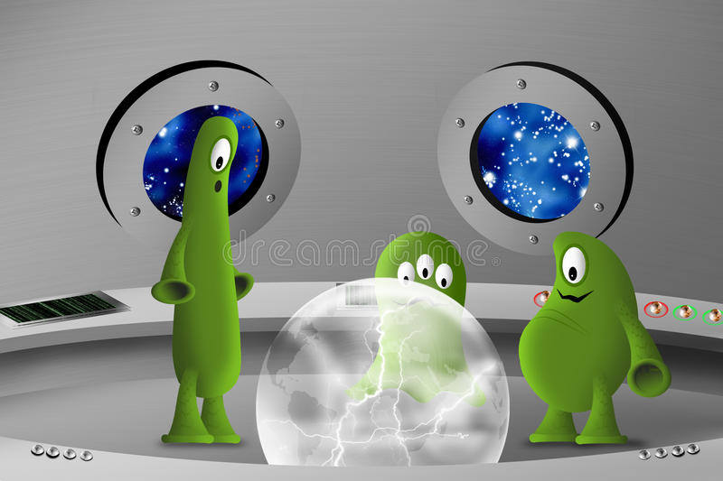 Download Into spaceship stock illustration. Illustration of planet - 23149675