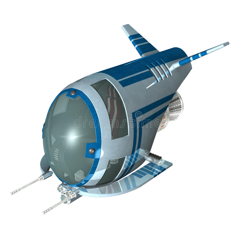 spaceship illustration libre de droits