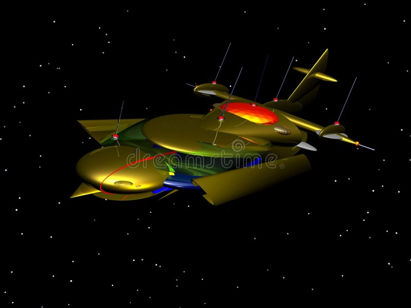 Spaceship 6 royalty free illustration