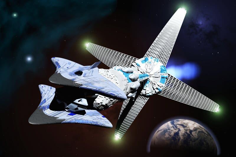 Download Spaceship stock image. Image of gravitational, rendering - 6733863