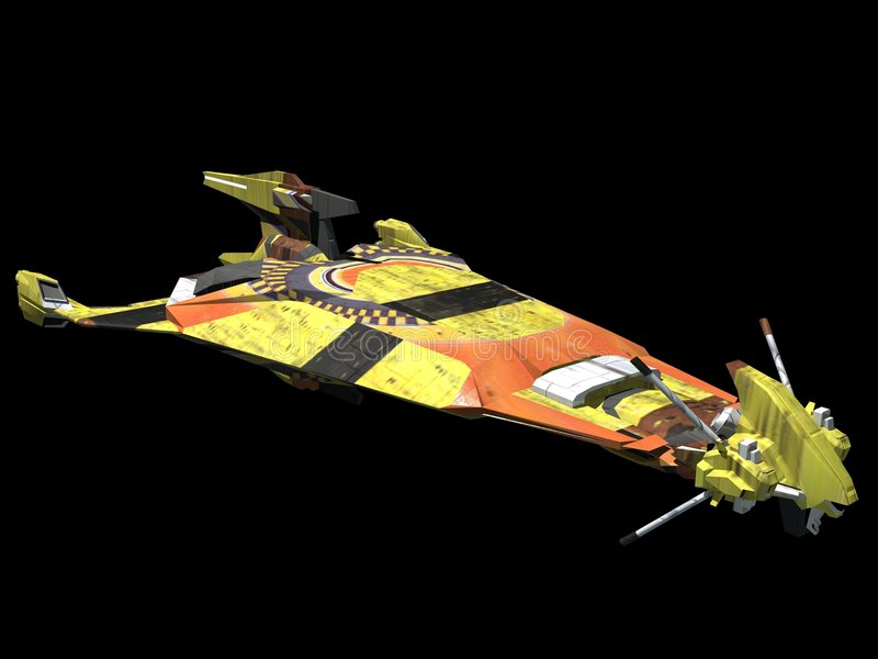spaceship vektor illustrationer