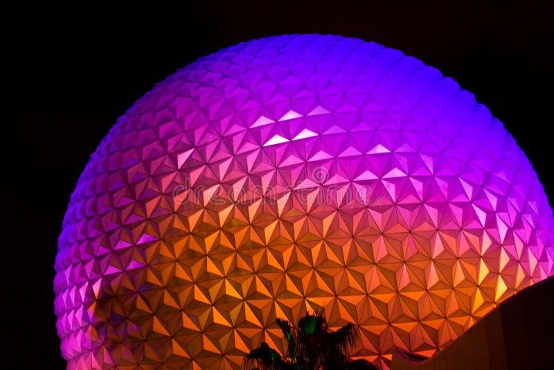 Epcot Center Spaceship Earth. Globe stock photos