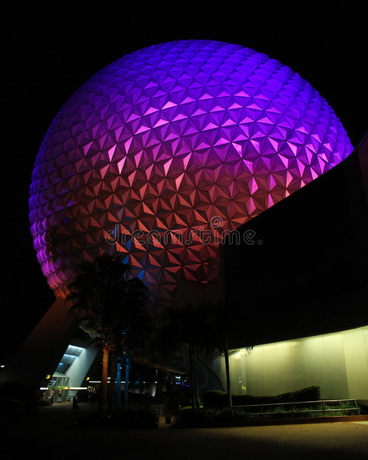 Spaceship Earth at Epcot Center, Orlando Florida. Spaceship Earth at Epcot Center, Orlando, Florida royalty free stock images