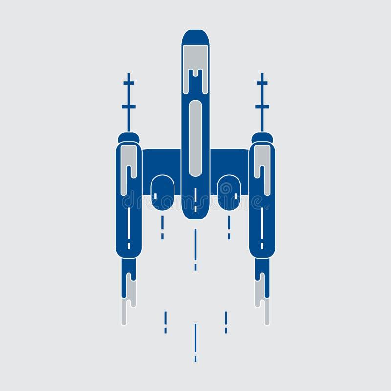 spaceship Esplorazione spaziale, scienza, tecnologia illustrazione di stock