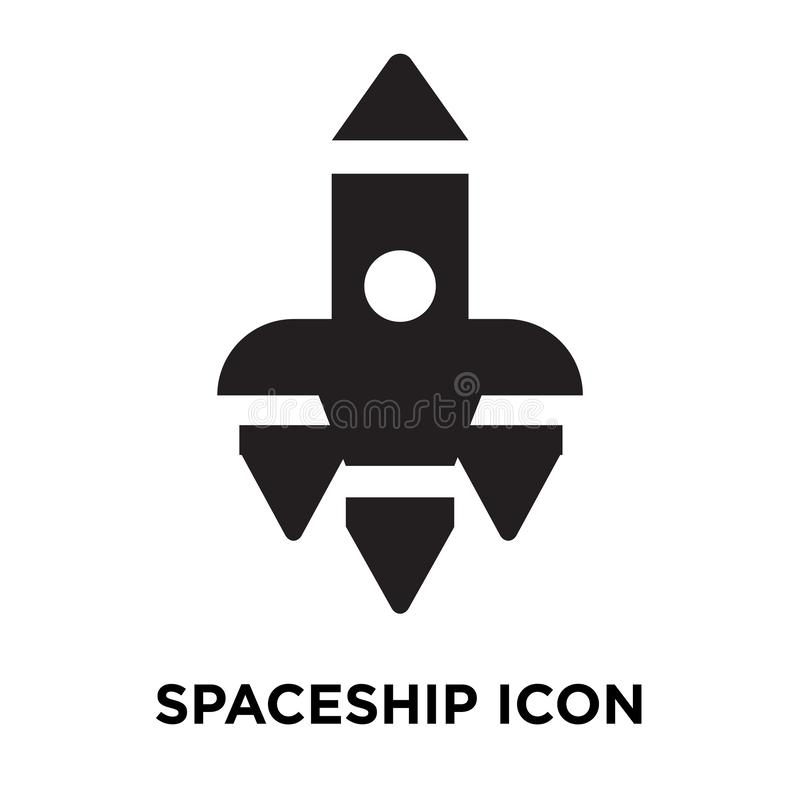 Spaceship icon vector isolated on white background, logo concept vector illustration
