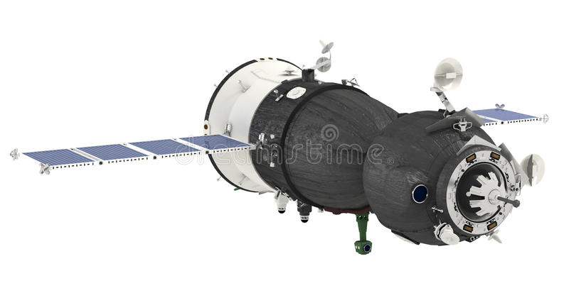 Spaceship Isolated Stock Image