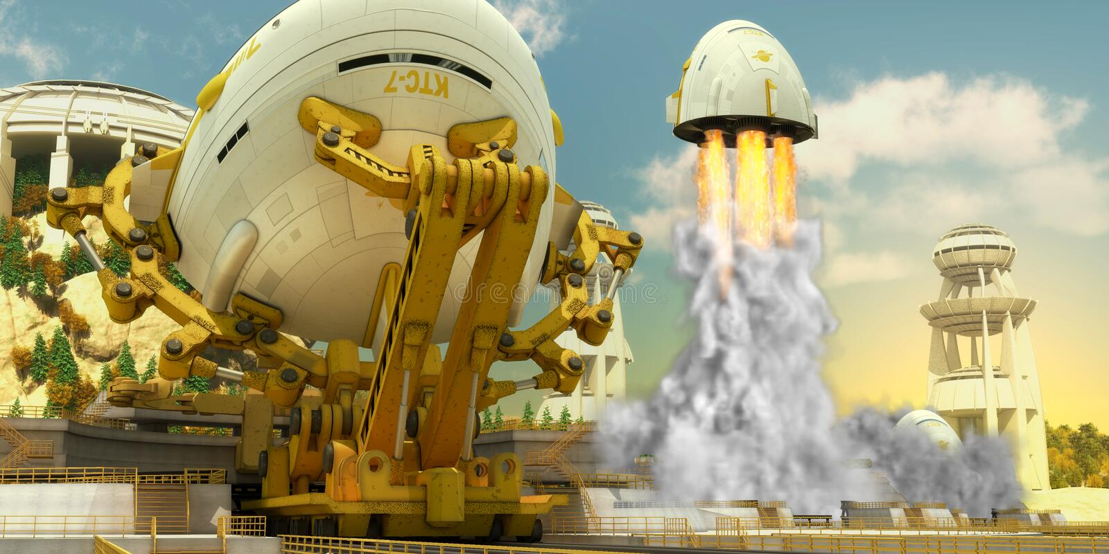 Spaceship 1 royalty free stock photography