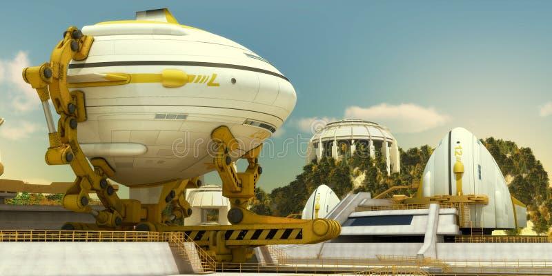 Spaceship 2 royalty free stock image