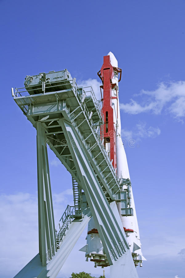 Spaceship. MOSCOW; RUSSIA- JULY 13- Spaceship Vostok on VDNH on July 13; 2015 in Moscow royalty free stock photos