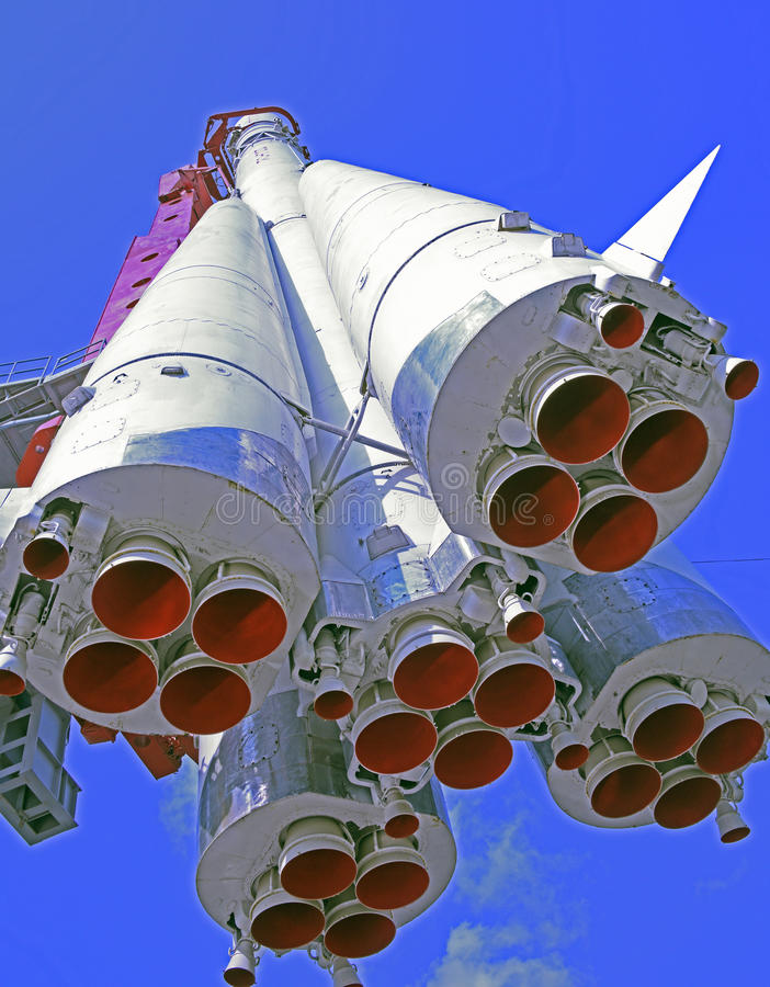Spaceship. MOSCOW; RUSSIA- JULY 13- Spaceship Vostok on VDNH on July 13; 2015 in Moscow royalty free stock image