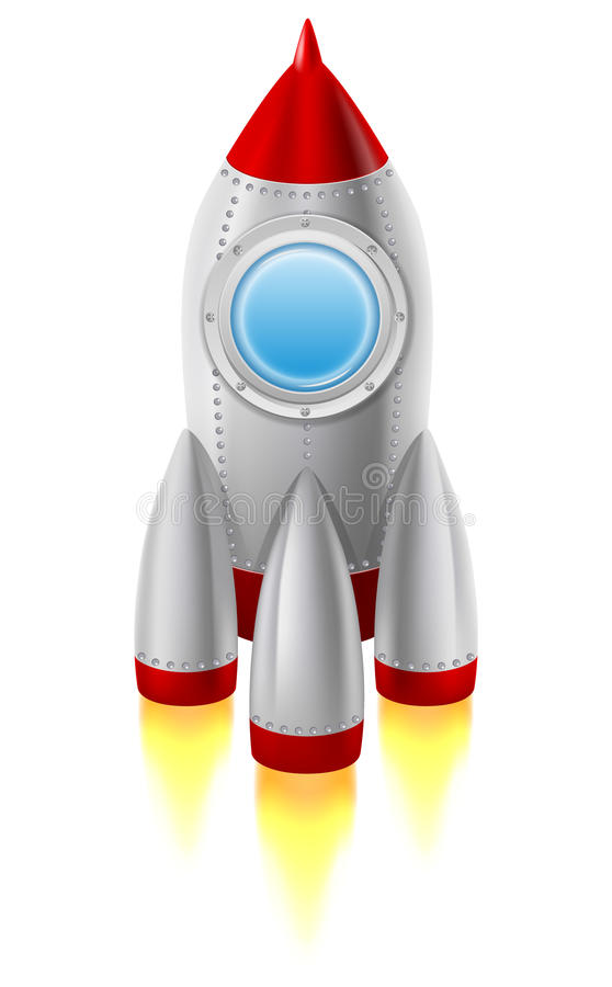Spaceship royalty free illustration