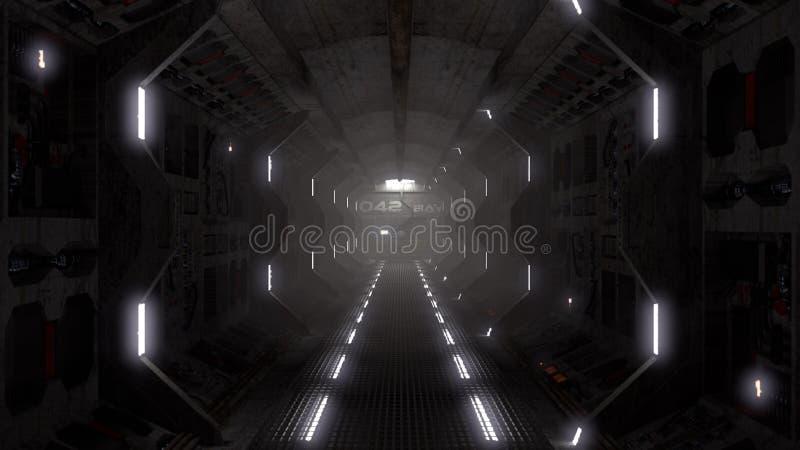 Spaceship tunnel royalty free illustration