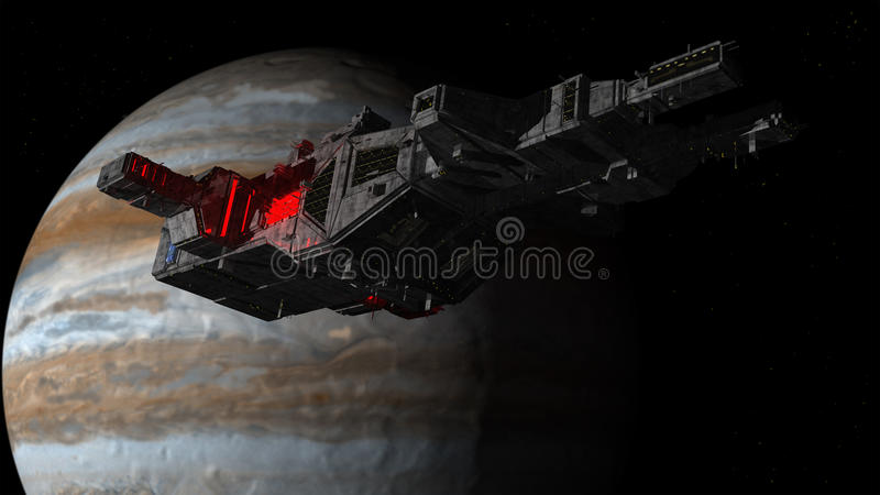 Download Spaceship UFO Alien And Planet Stock Image - Image of invasion, render: 68166689