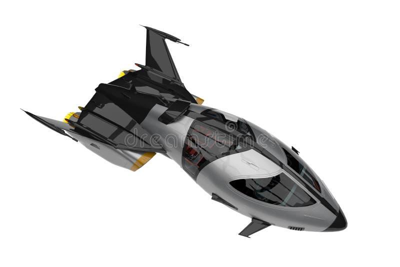 Spaceship universe explorer vector illustration