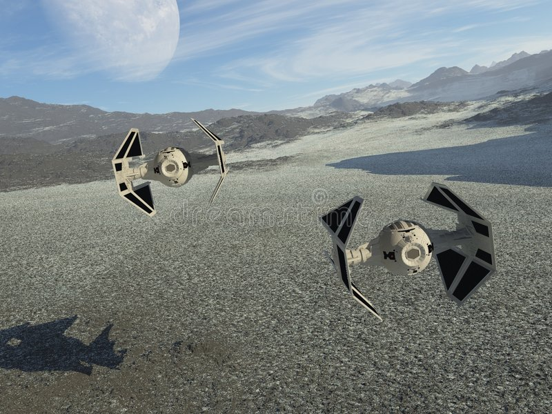 spaceships περιπόλου διανυσματική απεικόνιση