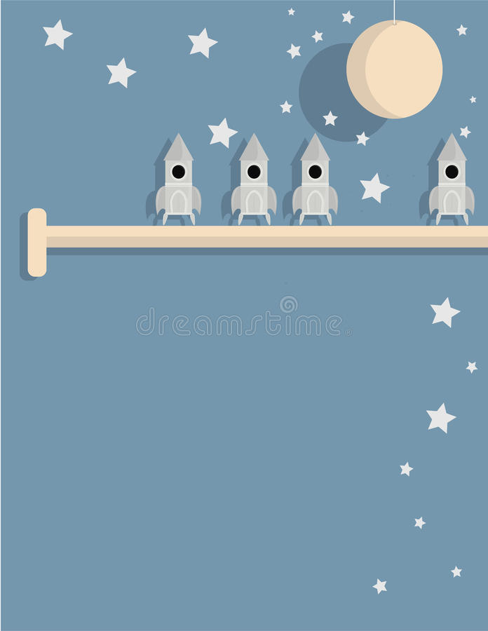 Download Spaceships on shelf stock vector. Image of fiction, science - 12726934