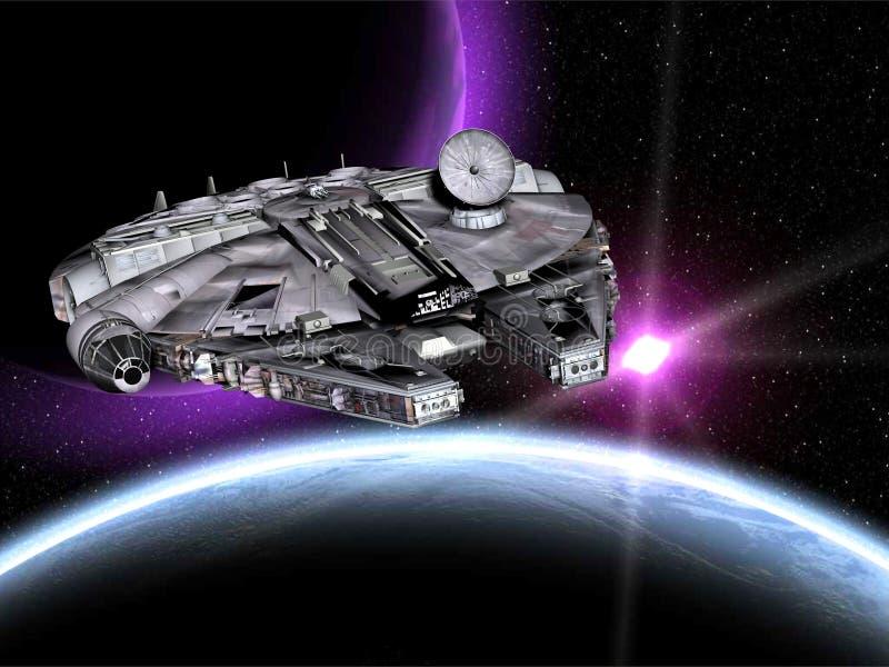 spaceshipstarwars royaltyfri illustrationer