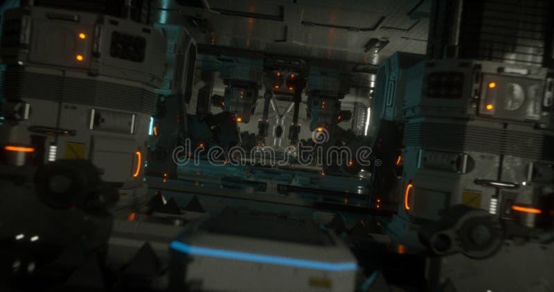 Spacesship 14 da ficção científica ilustração do vetor