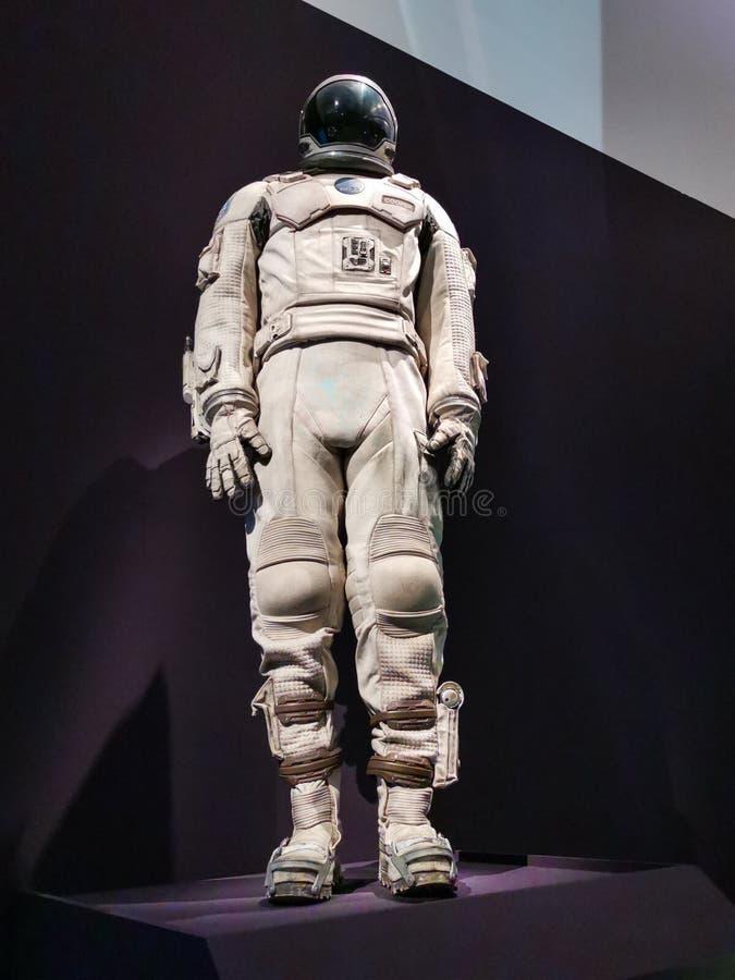 Spacesuit od Międzygwiazdowego filmu obrazy stock