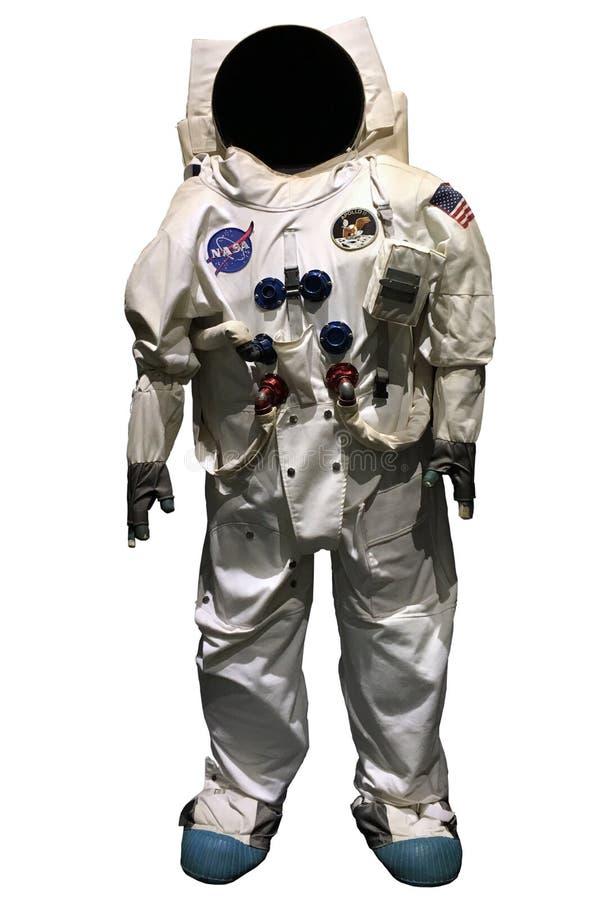 Spacesuit oficial de Apollo 11 do astronauta fotografia de stock