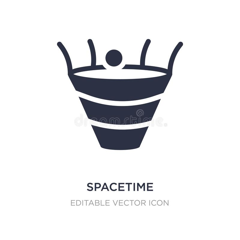 spacetime curvature icon on white background. Simple element illustration from Education concept royalty free illustration