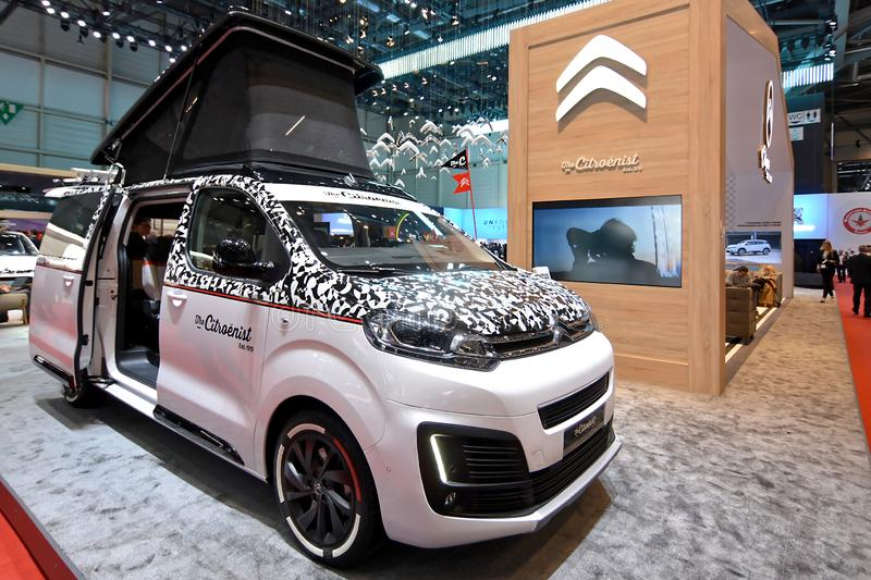89th Geneva International Motor Show - Citroen SpaceTourer Citroenist Concept. SpaceTourer The Citroënist Concept reflects the 100-year history of a brand royalty free stock photography