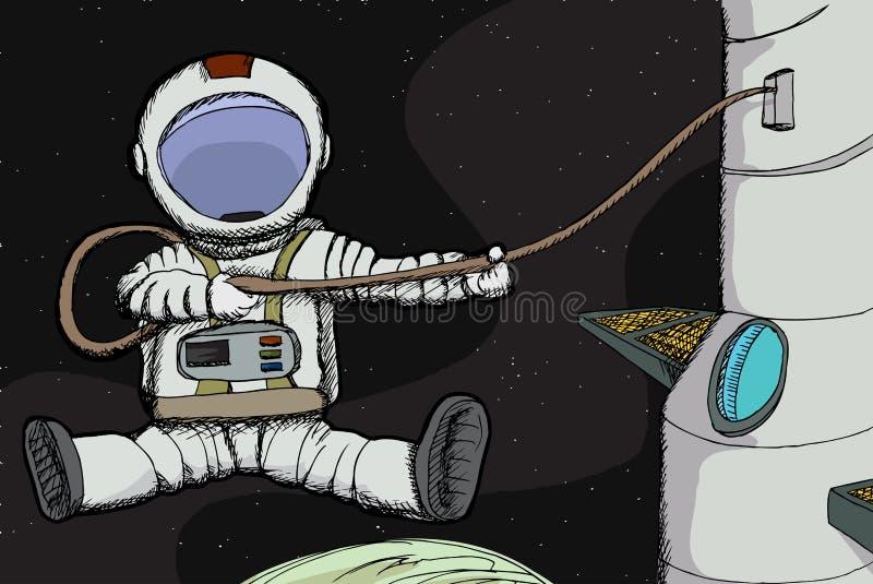 Spacewalk royalty free illustration