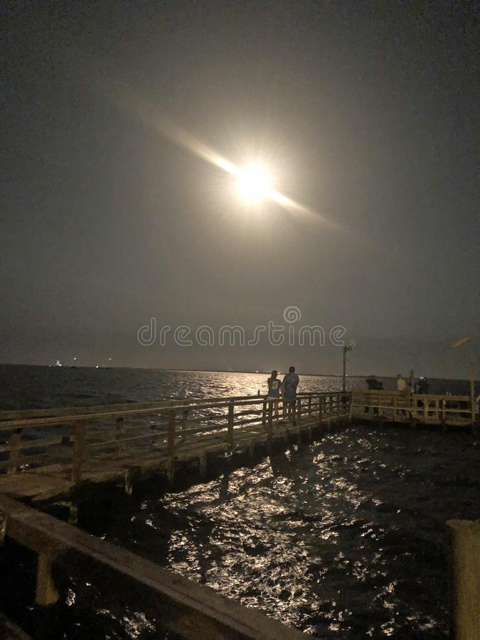 SpaceX猎鹰九号火箭队发射 库存图片