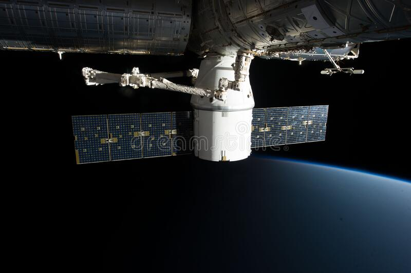 SpaceX COTS on ISS stock photo
