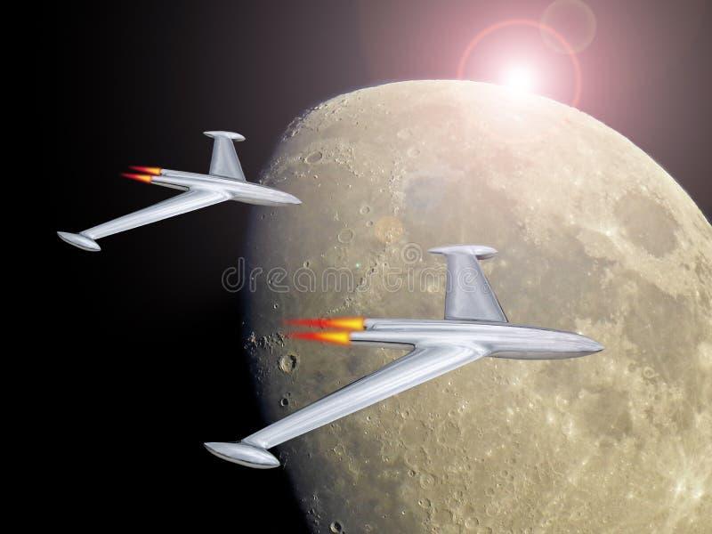 Spacex equipou o voo espacial a estraga a miss?o dos alm?scares do elon ilustração royalty free