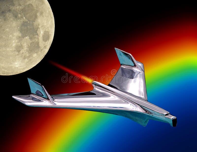 Spacex ha equipaggiato la missione a guasta l'orbita della luna di volo del razzo royalty illustrazione gratis